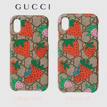 先取★GG Supreme苺【送込 GUCCI】iphone X/XS/XR★ロゴ/Mongram
