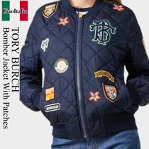 Tory burch bomber jacket with patches