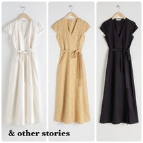 & Other Stories★Linen Midi Wrap Dress ワンピース