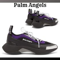 『Palm Angels』Recovery ロゴ スニーカー 黒/紫☆関税込*★