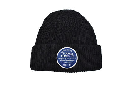 Thames London ニットキャップ・ビーニー THAMES LONDON BEANIE KNIT CAP BLACK テムズ ビーニー