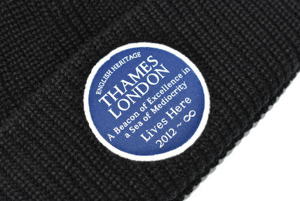 Thames London ニットキャップ・ビーニー THAMES LONDON BEANIE KNIT CAP BLACK テムズ ビーニー(3)