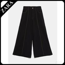 ★ZARA TRF★  CROPPED TROUSERS WITH TOPSTITCHING