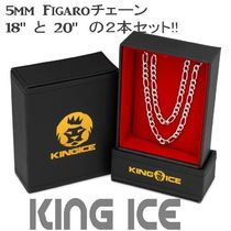 LA発ストリート☆King Ice☆Figaroチェーン 5mm 2本セット