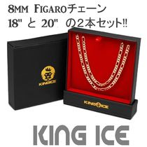 LA発ストリート☆King Ice☆ Figaroチェーン 8mm 2本セット