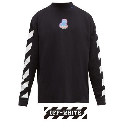 【Off-White】Thermo Man プリント ロングスリーブ Tシャツ