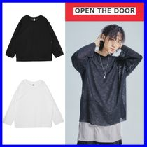 [OPEN THE DOOR]  deep slit layered knit (2 color)  /追跡付