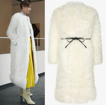G517 LOOK1 MONGOLIAN LAMB FUR COAT