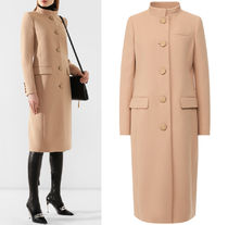 G522 MANDARIN COLLAR WOOL COAT
