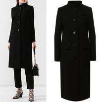 G523 MANDARIN COLLAR WOOL COAT