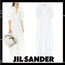 限定【Jil Sander】cotton, linen and silk maxi dress