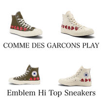 COMME DES GARCONS PLAY エンブレム ハイトップ スニーカー