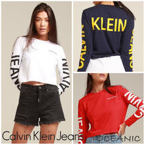 【Calvin Klein】INSTITUTIONAL BACK LOGO☆ロゴ長袖Tシャツ