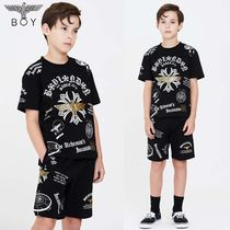 BOYLONDON【ボーイロンドン】Kid's snow crystal logo T-shirt
