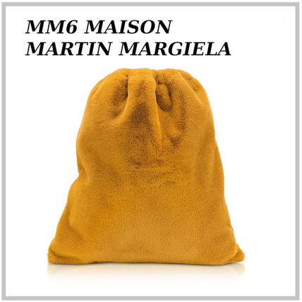MM6 Maison Margiela バックパック・リュック MM6 ★ Fresia Yellow Furry Drawstring Backpack 関税送料込み