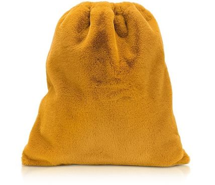 MM6 Maison Margiela バックパック・リュック MM6 ★ Fresia Yellow Furry Drawstring Backpack 関税送料込み(2)