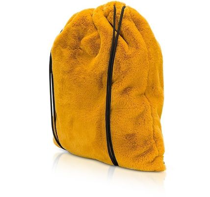 MM6 Maison Margiela バックパック・リュック MM6 ★ Fresia Yellow Furry Drawstring Backpack 関税送料込み(3)