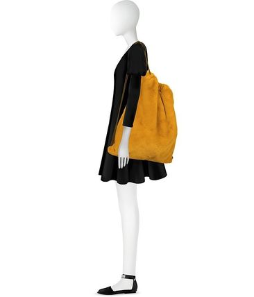 MM6 Maison Margiela バックパック・リュック MM6 ★ Fresia Yellow Furry Drawstring Backpack 関税送料込み(4)