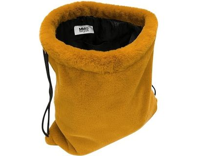 MM6 Maison Margiela バックパック・リュック MM6 ★ Fresia Yellow Furry Drawstring Backpack 関税送料込み(5)