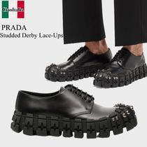Prada studded derby lace-ups