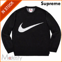【即発】SUPREME NIKE SWOOSH SWEATER BLACK LARGE