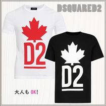 D SQUARED2(ディースクエアード) キッズ用トップス 大人もOK★DSQUARED2★ビッグプリント Tシャツ★2色