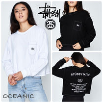 【Stussy】Shaw Long Sleeve Crop T-Shirt☆クロップド丈ロンT