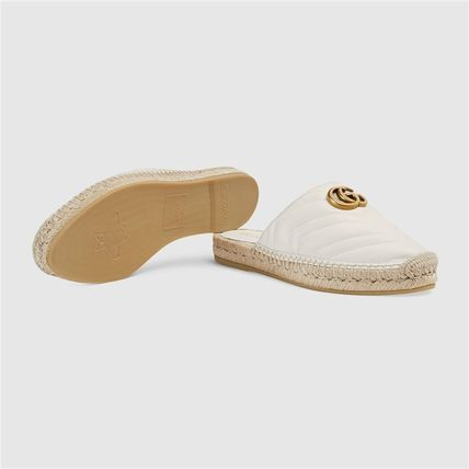 GUCCI シューズ・サンダルその他 19AW ★新作★グッチ Leather espadrille with Double G(2)