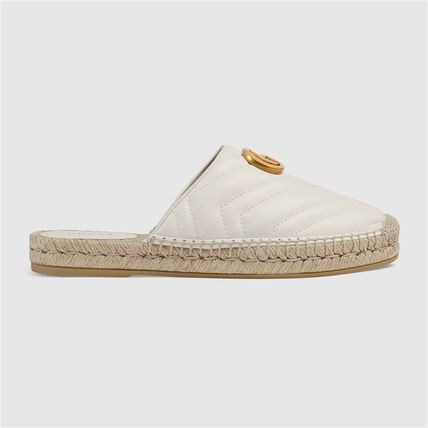 GUCCI シューズ・サンダルその他 19AW ★新作★グッチ Leather espadrille with Double G(3)