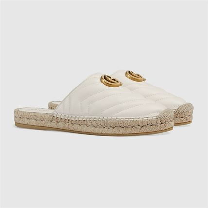 GUCCI シューズ・サンダルその他 19AW ★新作★グッチ Leather espadrille with Double G(4)