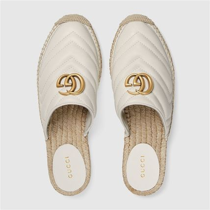 GUCCI シューズ・サンダルその他 19AW ★新作★グッチ Leather espadrille with Double G(5)