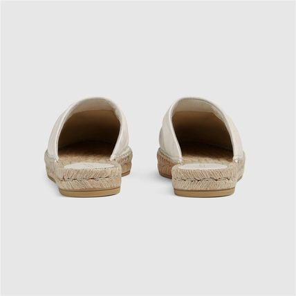 GUCCI シューズ・サンダルその他 19AW ★新作★グッチ Leather espadrille with Double G(6)