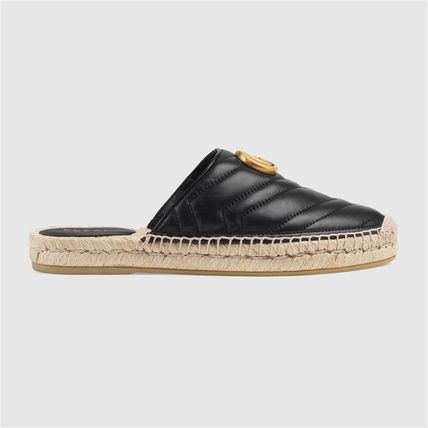 GUCCI シューズ・サンダルその他 19AW ★新作★グッチ Leather espadrille with Double G(8)