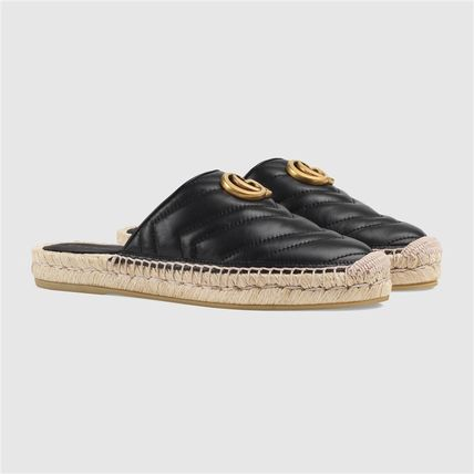 GUCCI シューズ・サンダルその他 19AW ★新作★グッチ Leather espadrille with Double G(9)