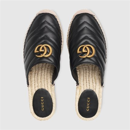 GUCCI シューズ・サンダルその他 19AW ★新作★グッチ Leather espadrille with Double G(10)