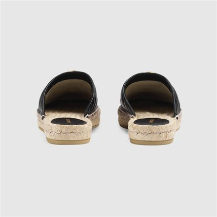 GUCCI シューズ・サンダルその他 19AW ★新作★グッチ Leather espadrille with Double G(11)