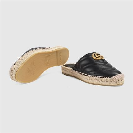 GUCCI シューズ・サンダルその他 19AW ★新作★グッチ Leather espadrille with Double G(12)