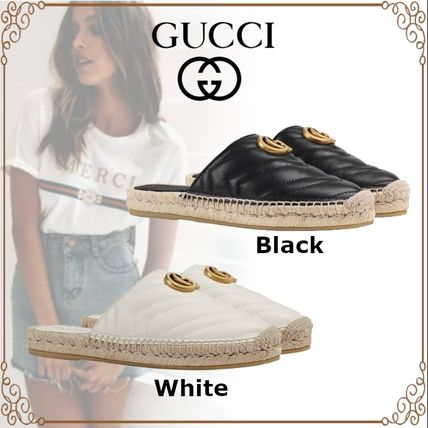 GUCCI シューズ・サンダルその他 19AW ★新作★グッチ Leather espadrille with Double G