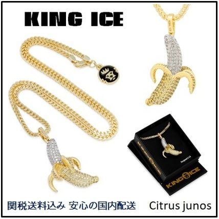 King Ice ネックレス・チョーカー 送料税込【King Ice】Banana Emoji ネックレス 国内発送