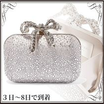 関税込◆Cloud crystal-embellished satin clutch