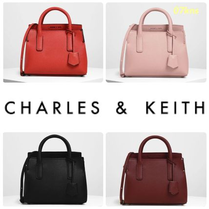 【Charles&Keith】TUCK-IN FLAP STRUCTURED BAG
