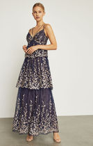 ★BCBG MAXAZRIA★ FLORAL BLOOMS EMBROIDERED GOWN