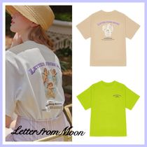 【LETTEER FROM MOON】BACK ANGEL & CLOUD T-SHIRTS