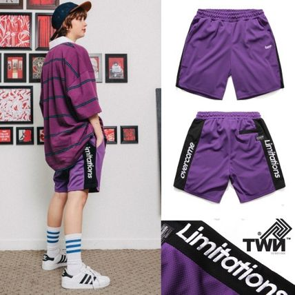 TWN★日本未入荷★男女兼用★Mesh Cool Line Short Pants Violet