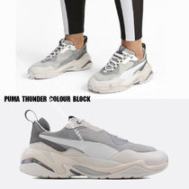 PUMA★THUNDER COLOUR BLOCK★グレー×ベージュ系