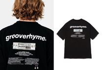 GROOVE RHYME(グルーヴライム) Tシャツ・カットソー ★GROOVE RHYME /★RADIO PRINT OVER FIT T-SHIRTS(BLACK)