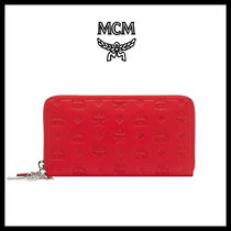 【MCM】★CLARA MONOGRAM チャームZIP AROUND長財布★正規品