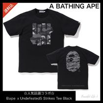 送料込 人気話題コラボ★Bape x Undefeated 5 Strikes Tee Black