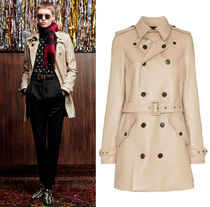 WSL1500 LOOK20 CLASSIC TRENCH COAT IN SHINY LAMBSKIN