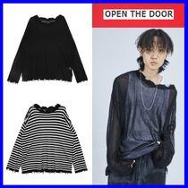 [OPEN THE DOOR]   damage net knit (2 color) /追跡付